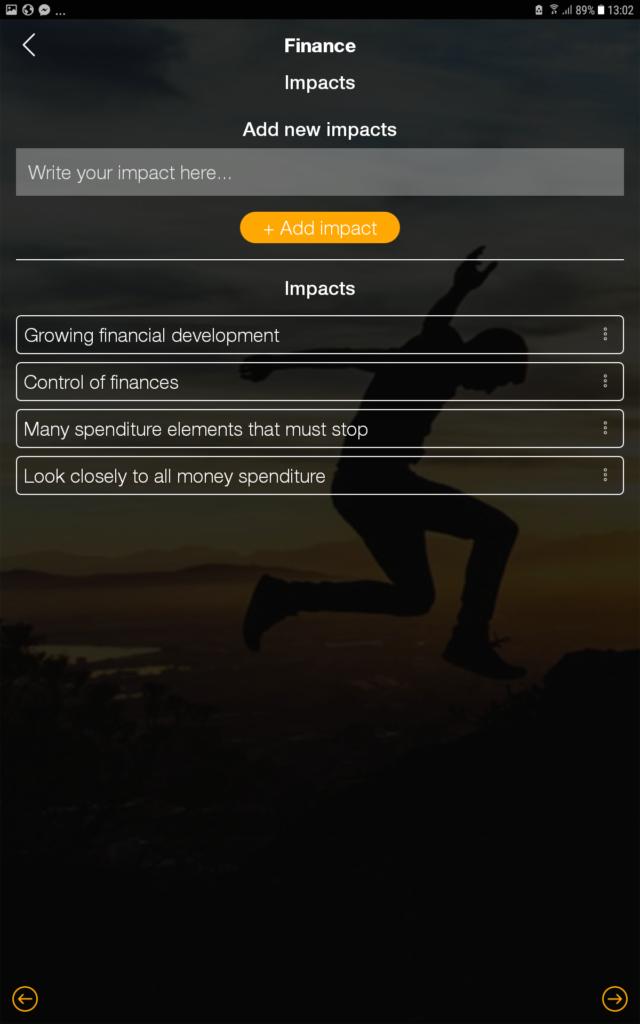 goal setting impact finance